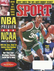 November 1992 Sport Cover (Reggie Lewis, Boston Celtics)