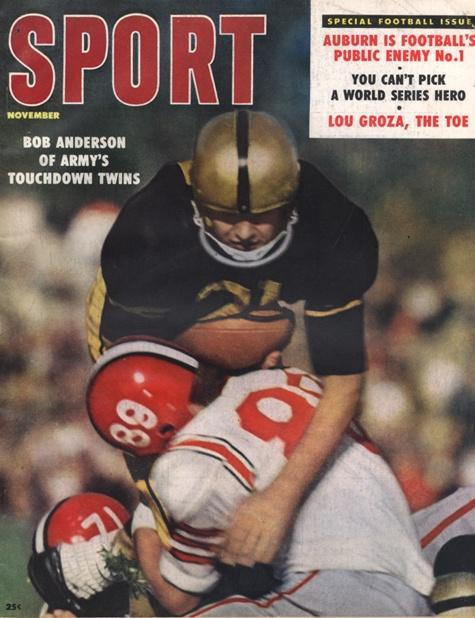 November 1958 Sport Cover (Bob Anderson, U.S. Military Academy of West Point)