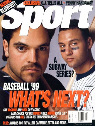 April 1999 Sport Cover (Mike Piazza, New York Mets and Derek Jeter, New York Yankees)