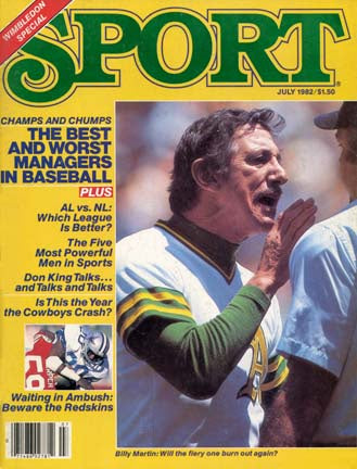 July 1982 Sport Cover (Billy Martin, Oakland Athletics)