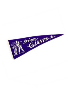 New York Giants (Baseball) Team Pennant (Purple)