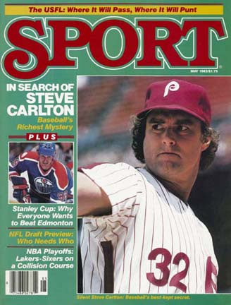 May 1983 Sport Cover (Steve Carlton, Philadelphia Phillies)
