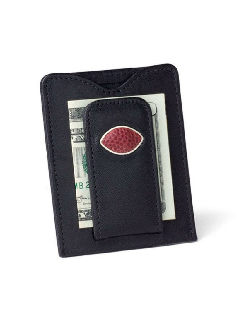 Game-Used NFL Football Money Clip Wallet