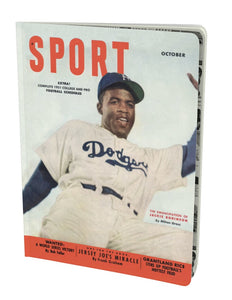 Jackie Robinson October 1951 Sport Notebook