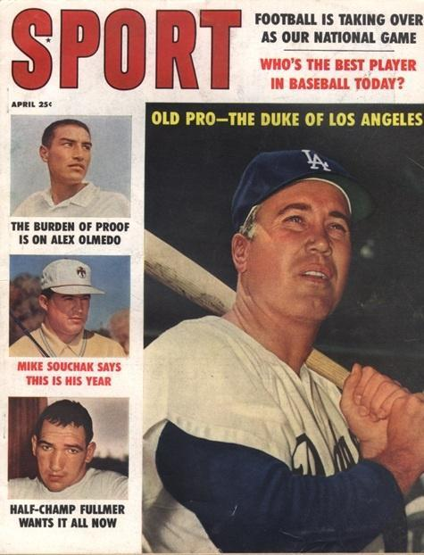 April 1960 Sport Cover (Duke Snider, Los Angeles Dodgers)