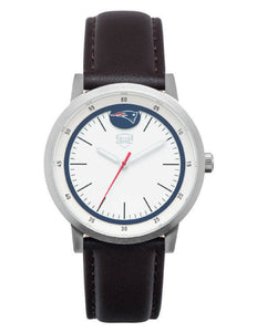 New England Patriots Jack Mason Leather Strap Watch