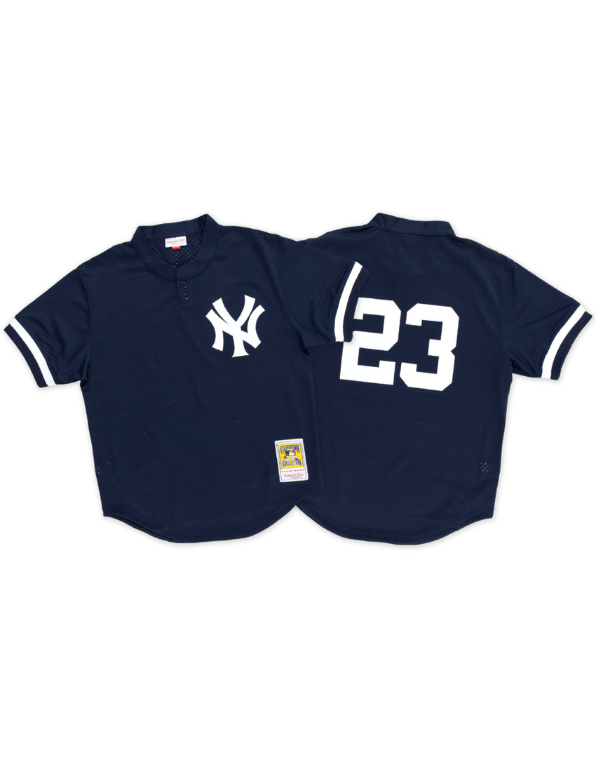 new concept c0fb4 bd2c0 New York Yankees Don Mattingly 1995 Mesh BP Authentic Replica Jersey