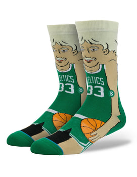 Larry Bird Instance Cartoon NBA Legends Socks