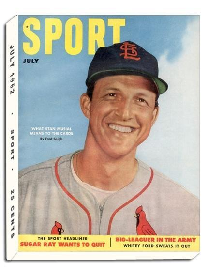 July 1952 Sport Cover (Stan Musial, St. Louis Cardinals)