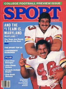 September 1985 Sport Cover (Rick Badanjek, Maryland Terrapins)