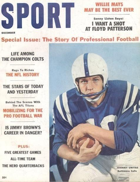 December 1960 Sport Cover (Johnny Unitas, Baltimore Colts)