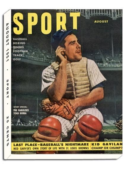 August 1951 Sport Cover (Yogi Berra, New York Yankees)
