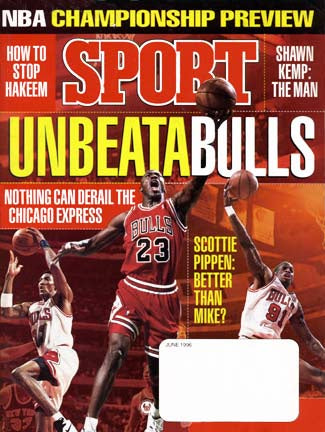 June 1996 Sport Cover (Michael Jordan of the Chicago Bulls)