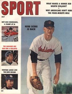 July 1958 Sport Cover (Herb Score, Cleveland Indians)