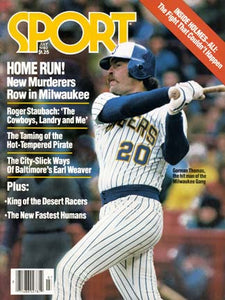July 1980 Sport Cover (Gorman Thomas, Milwaukee Brewers)
