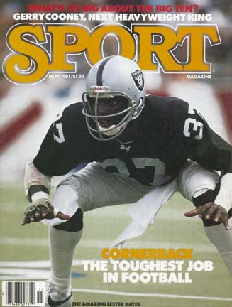 November 1981 Sport Cover (Lester Hayes, Los Angeles Raiders)