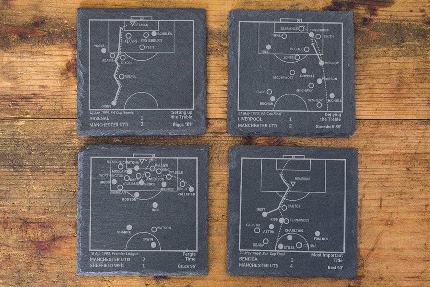 Manchester United Greatest Plays in Sports Coasters
