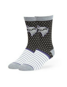 Minnesota Vikings Willard Flat Knit Socks