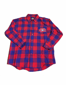 Montreal Canadiens Large Check Flannel Long Sleeve