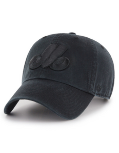 Montreal Expos Clean Up Cap (All Black)