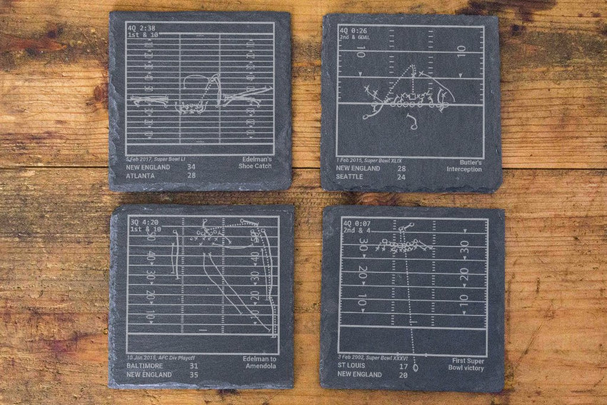 New England Patriots Greatest Plays in Sports Coasters