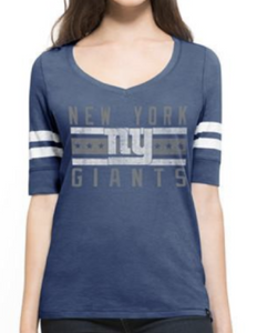 New York Giants Women's V-neck Tee