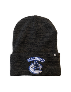 Vancouver Canucks Heathered Grey Brain Freeze Cuff Knit Toque