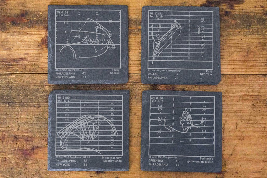 Philadelphia Eagles Greatest Plays in Sports Coasters