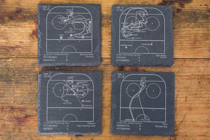 Pittsburgh Penguins Greatest Plays in Sports Coasters