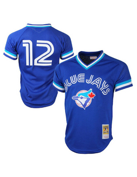 Toronto Blue Jays 1993 Roberto Alomar Mesh BP Authentic Replica Jersey