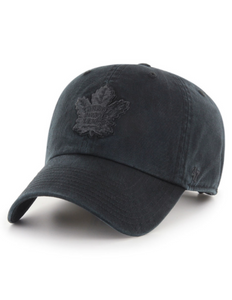 Toronto Maple Leafs Clean Up Cap (All Black)