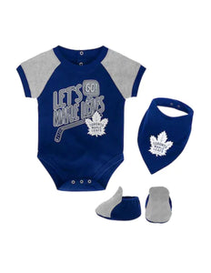Toronto Maple Leafs Let's Go Team Creeper Bib & Bootie Set