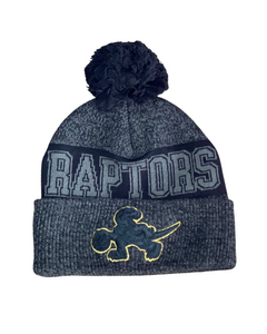 Toronto Raptors Black and Gold Dino Toque