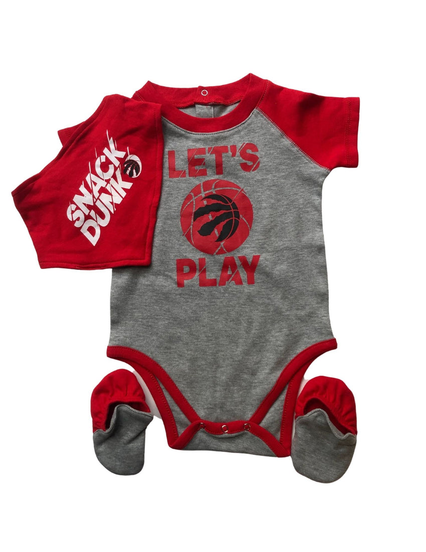 Toronto Raptors Three Piece Creeper Set