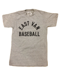 East Van Baseball League Script Tee