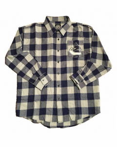 Vancouver Canucks Large Check Flannel Long Sleeve