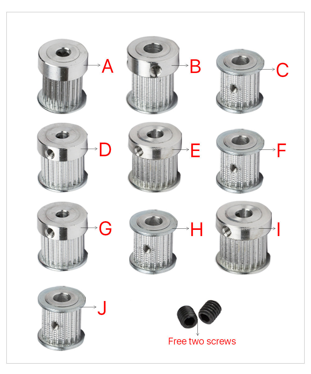 Timing Belt Pulley Synchronous Gear 6.35/8/12mm
