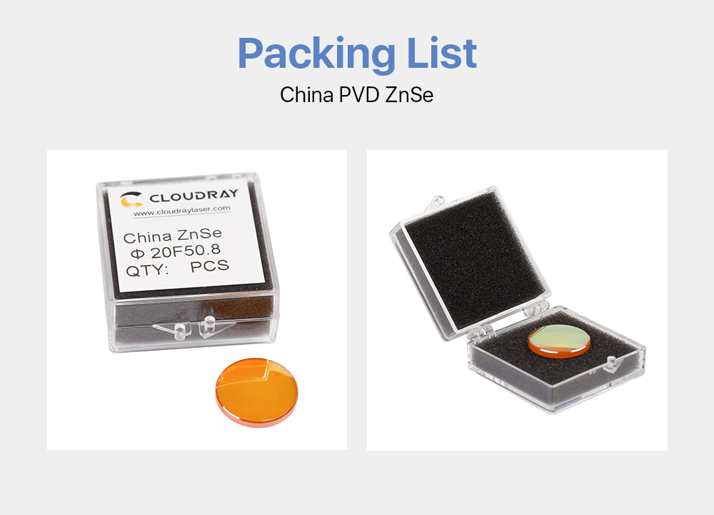 Cloudray CO2 Laser China PVD ZnSe Focus Lens Sale In Bulk
