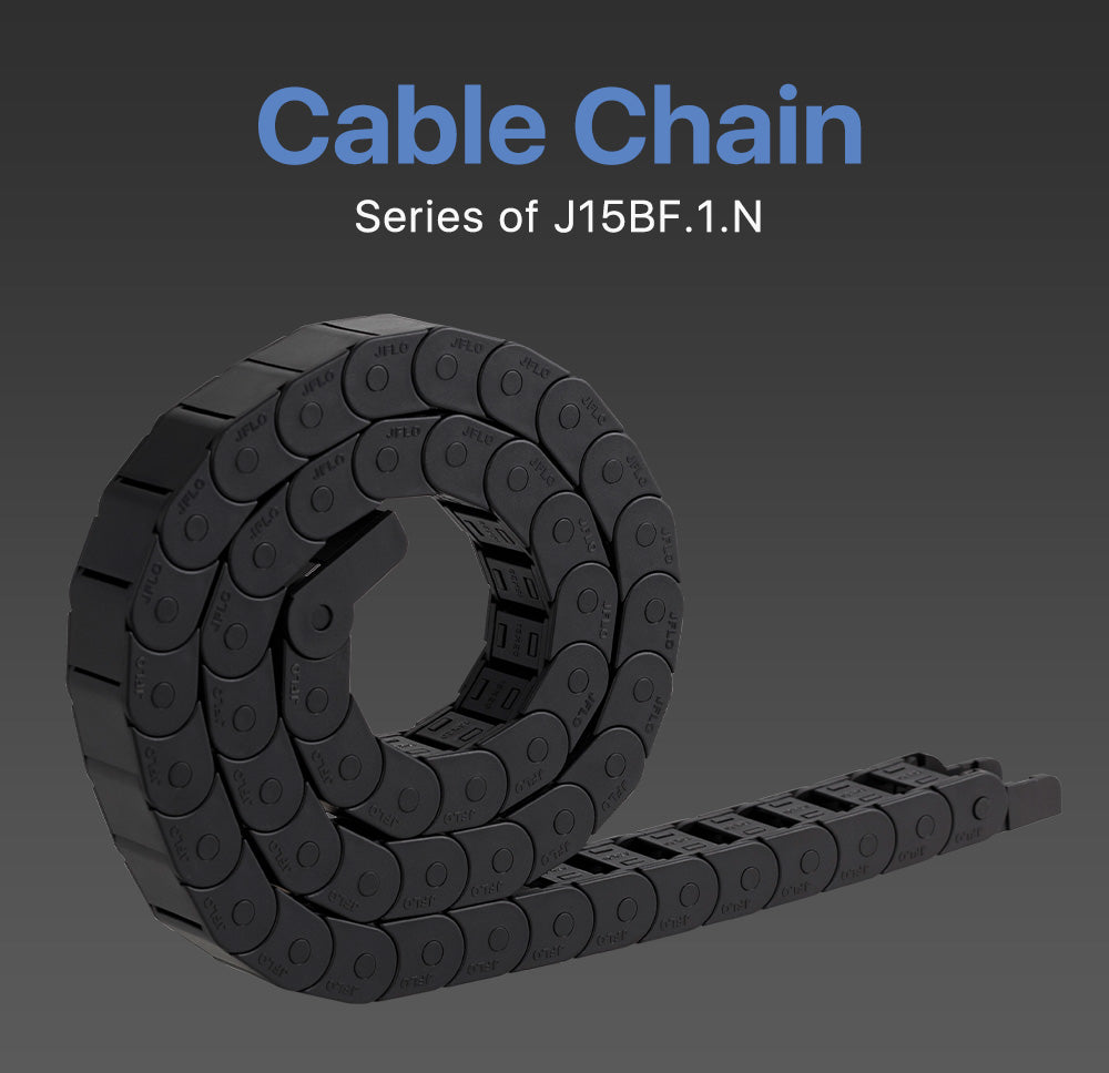 Cloudray J15BF.1.N Semi-Enclosed Interior Opening Cable Drag Chains