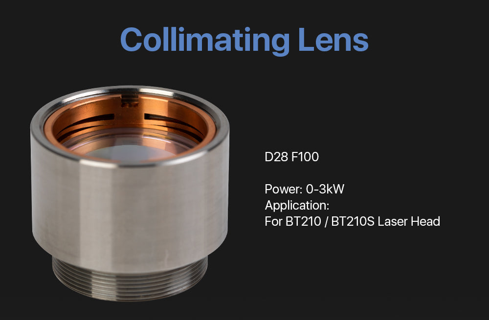 Cloudray Focusing & Collimating Lens With Lens Tube For Raytools BT210(S)