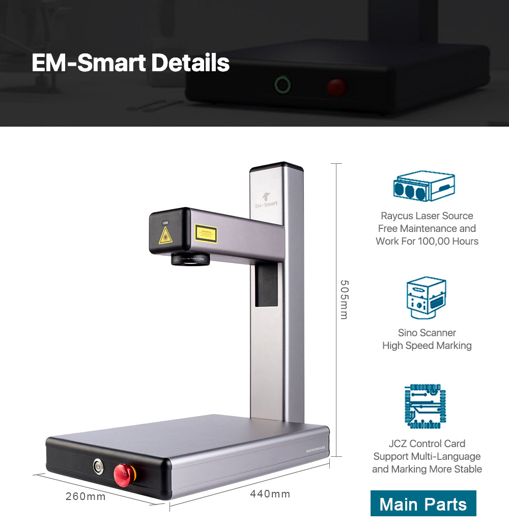 20W Portable Fiber Laser Marking Machine EM-Smart
