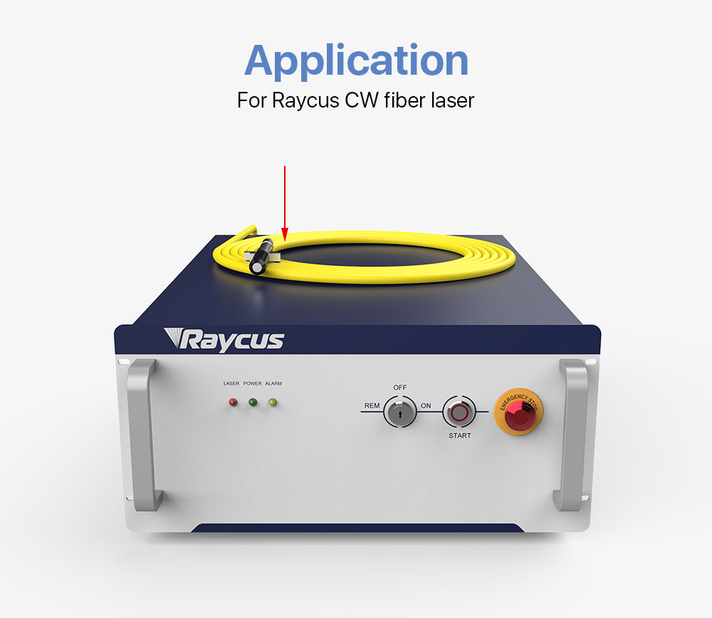 Cloudray Fiber Output Cable For Raycus CW Fiber Laser