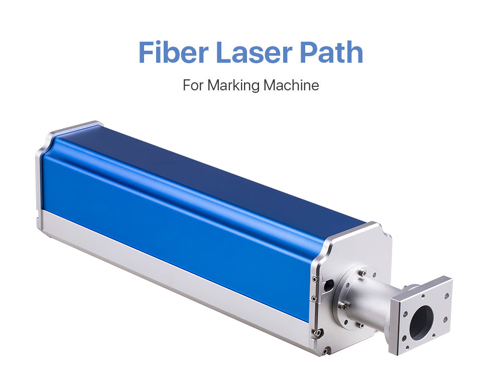 Fiber laser path for laser marking machine