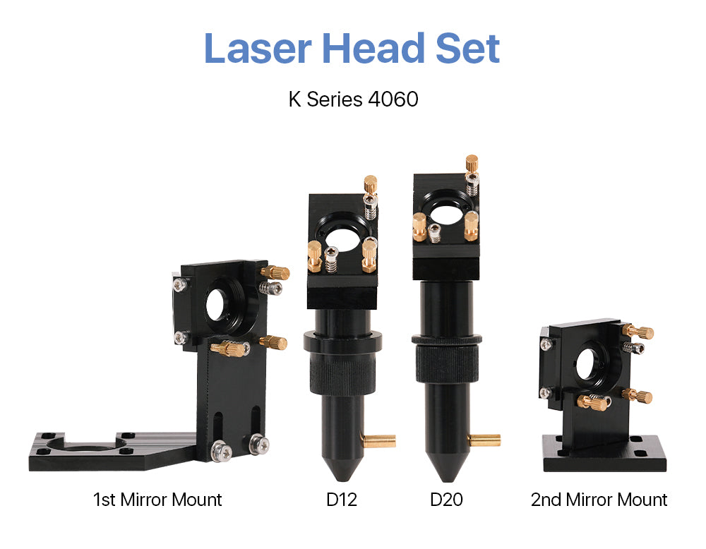 Cloudray K Series Black Laser Head Set With 1st Mirror Mount & 2nd Mirror Mount