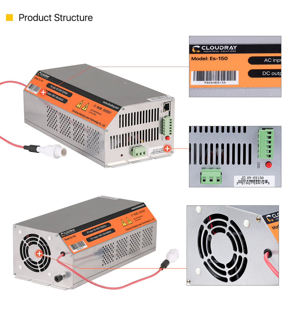 Cloudray 150-180W HY-W Series CO2 Laser Power Supply