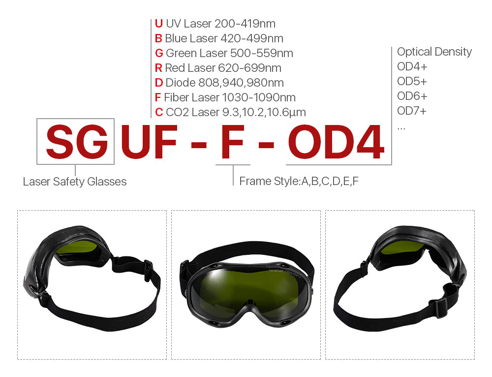 Laser Safety Goggles Protective Glasses