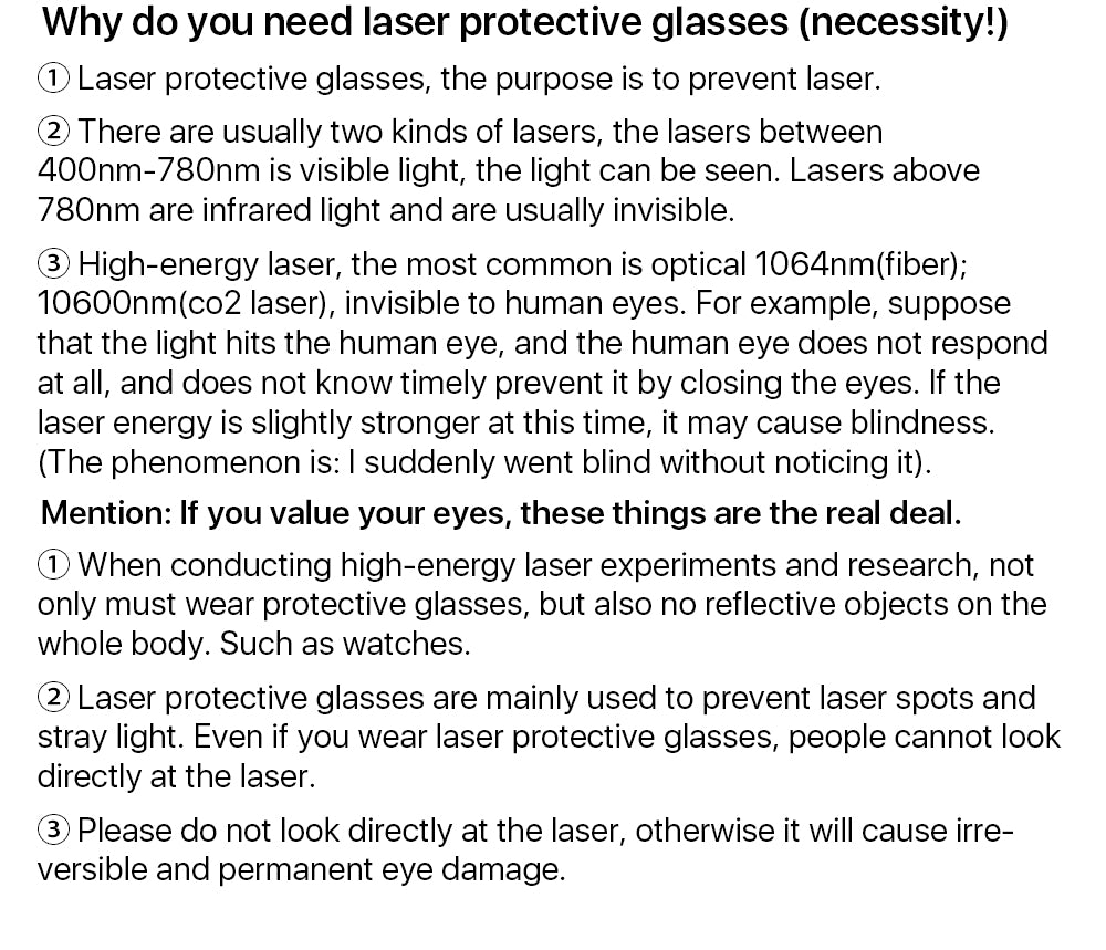 Laser Safety Glasses Protective Goggles