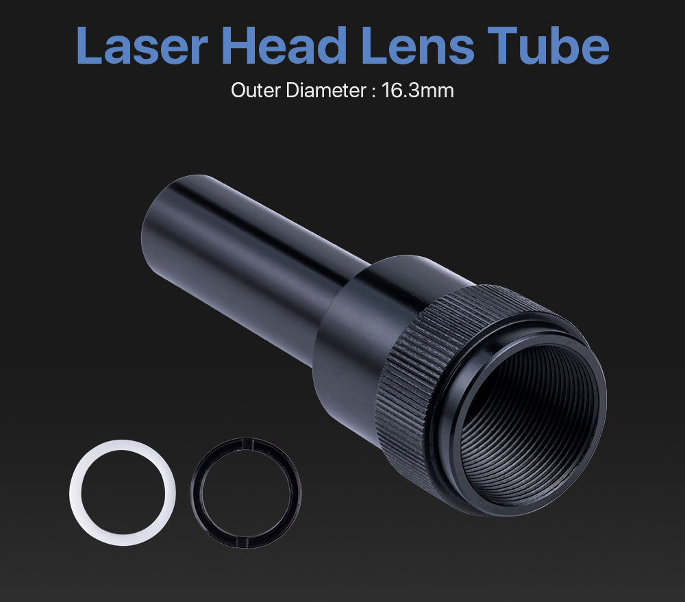 CO2 Lens Tube Outer Diameter 16.3mm for CO2 Laser Machine