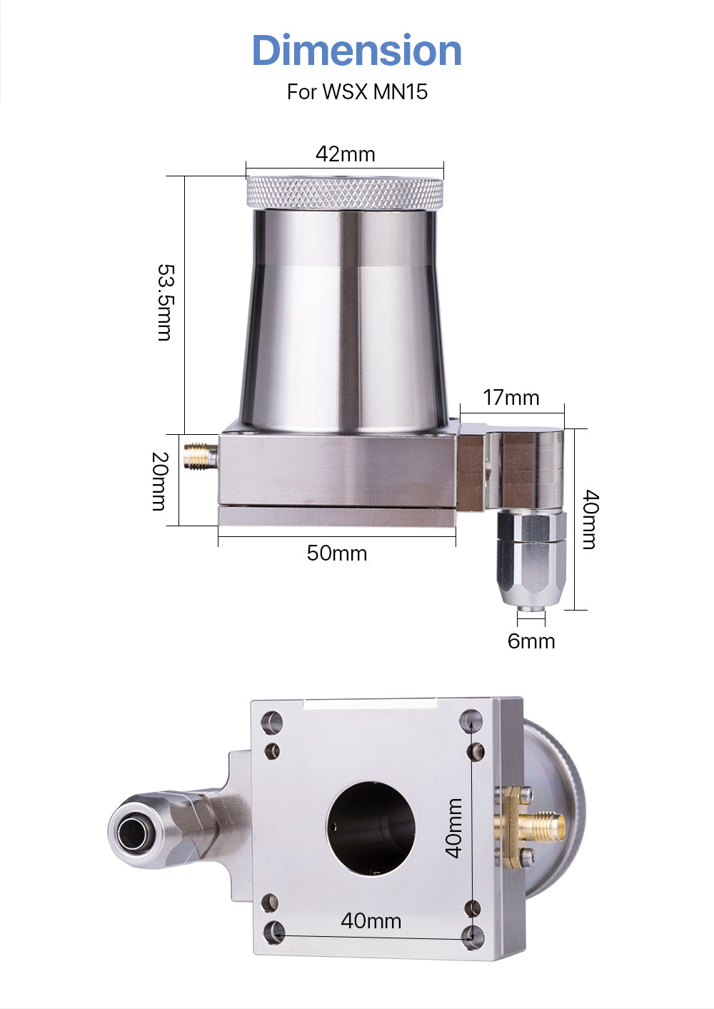 Nozzle Connector for WSX MN15 Fiber Laser Cutting Head