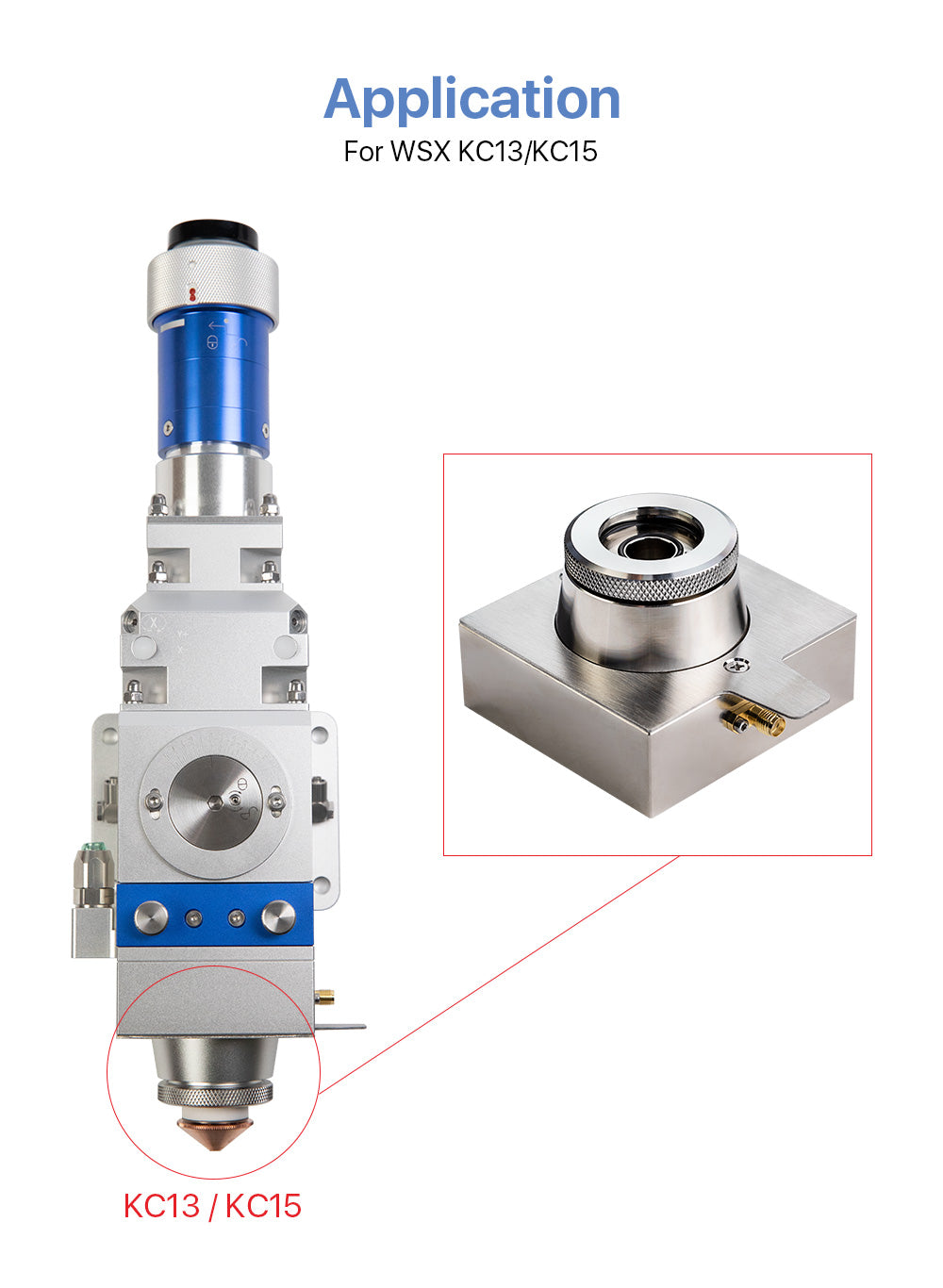 Nozzle Connector for WSX KC13 KC15 Fiber Laser Cutting Head